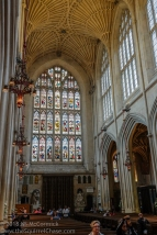 Arched ceilings of the Bath Abbey.