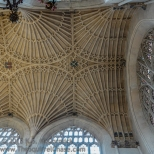 Roof supports from below, Bath Abbey