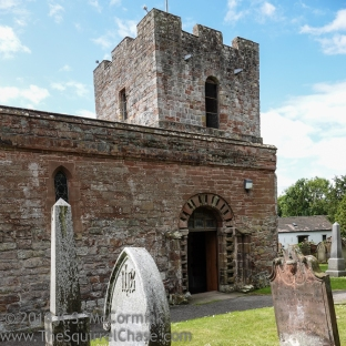 Fortress-like church to keep reivers out in Brough-by-Sands.