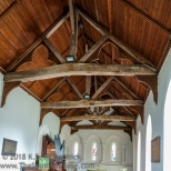 Truss roof supports at St. Mary's church in Beaumont.