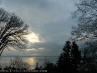 Winter clouds over Puget Sound.