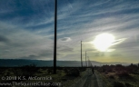 Power lines and morning clouds near Desert Hot SPrings California.