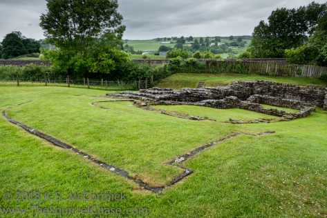 View of Poltross Barn, Milecastle 48, on Hadrian's Wall.