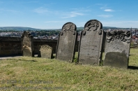 Gravestones at the church on the hill.
