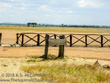 Fence at Kichwa Tembo Airstrip