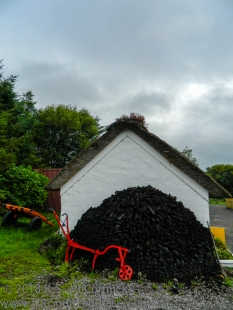 Red plow at a folk life museum in County Kerry.