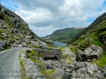 Country road, Gap of Dunloe, County Kerry Ireland.