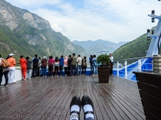 Cruising the Three Gorges in China.