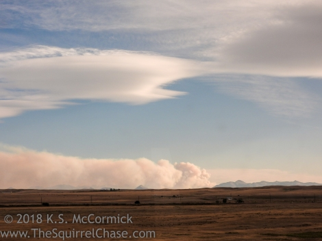 Smoke from a Montana wildfire.