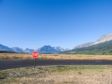 Stop sign at Glacier National Park, Montana