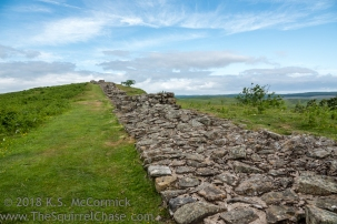 Long stretch of the wall east of Housesteads Fort, I think this area is Sewingshields.