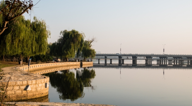 Morning stroll along the Mihe River