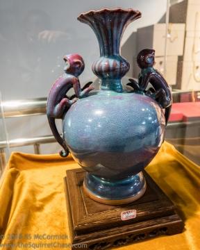 Monkey vase.