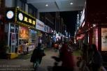 Food street. It looks like a pedestrian street, but....