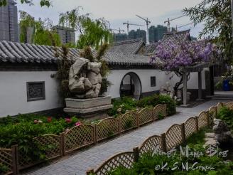 Peony garden at Shihu Yuan.
