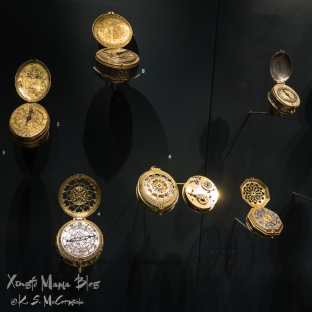 Pocket watches at the British Museum.