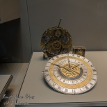 A complex timepiece at the British Museum.