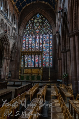Choir area in Carlisle Cathedral.