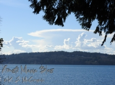 Spring clouds over the Kitsap Peninsula.