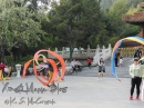 Ribbon twirling at a nearby park, looked like fun.