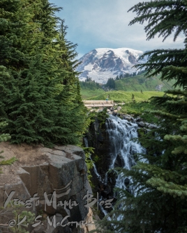Myrtle Falls at Mount Rainier.