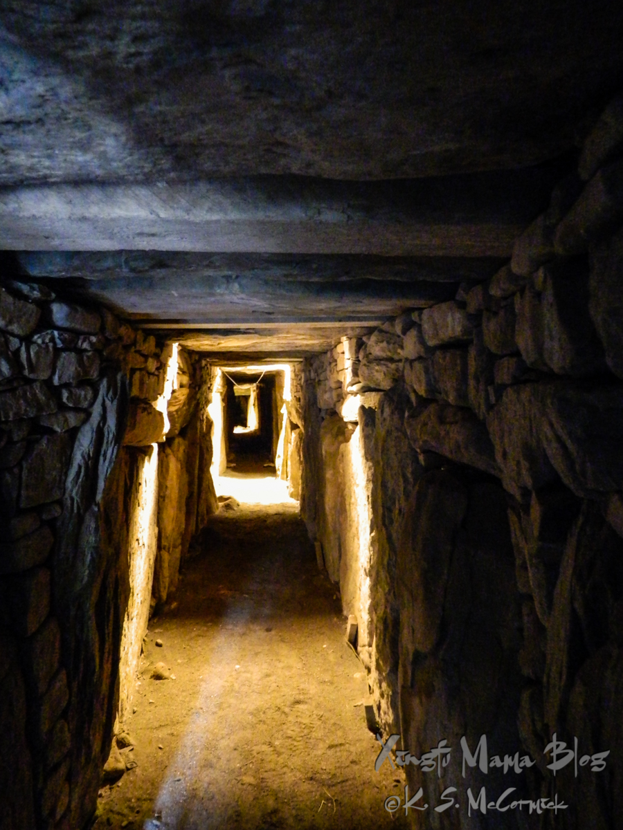 A glimpse into the passage in the large mound at Knowth.
