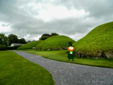 Mounds that are ancient passage tombs at Bru na Boinne, in County Meath Ireland.