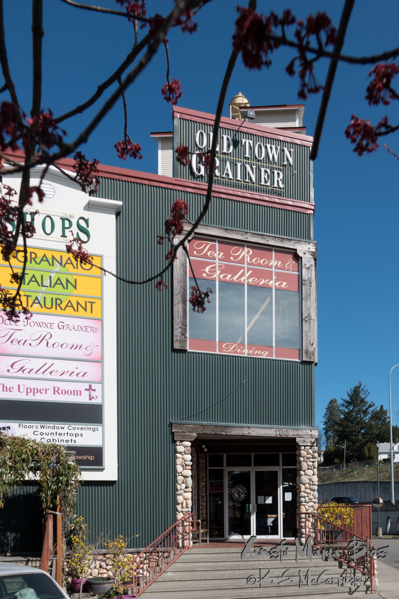 Old Town Grainery Building in Mount Vernon, Washington State.