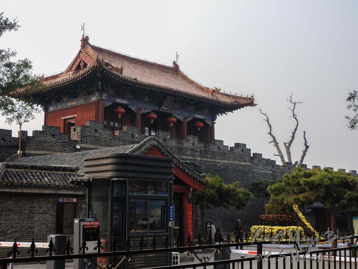 North gate to Dai Miao Temple in Tai'an, China.