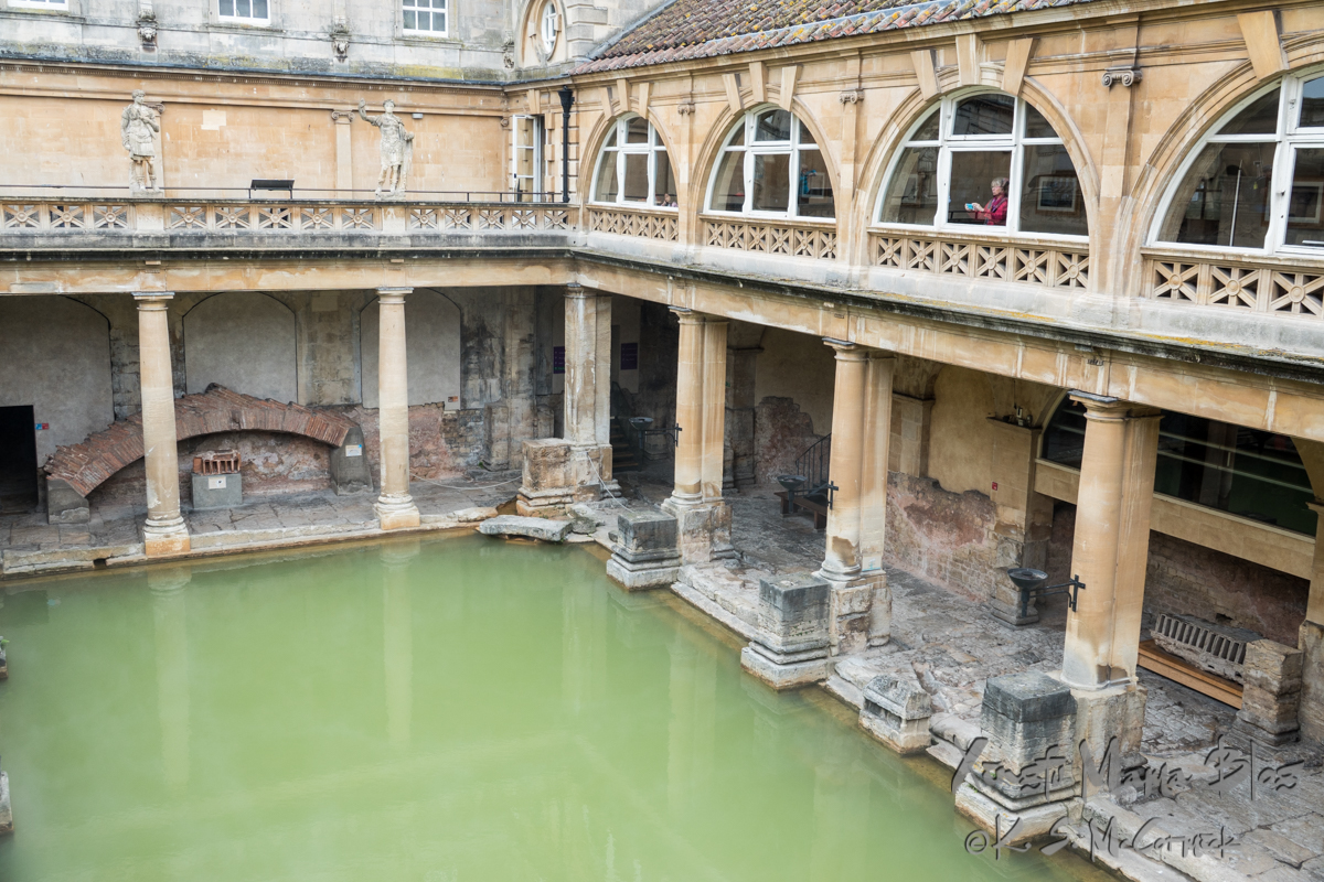 The main pool of the Roman Baths at Bath.