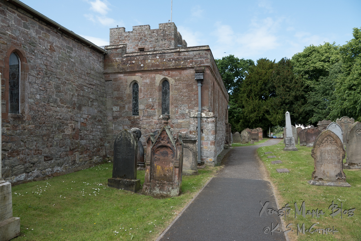 St. Michael's in Burgh-by-Sands was built with stones from Hadrian's wall.