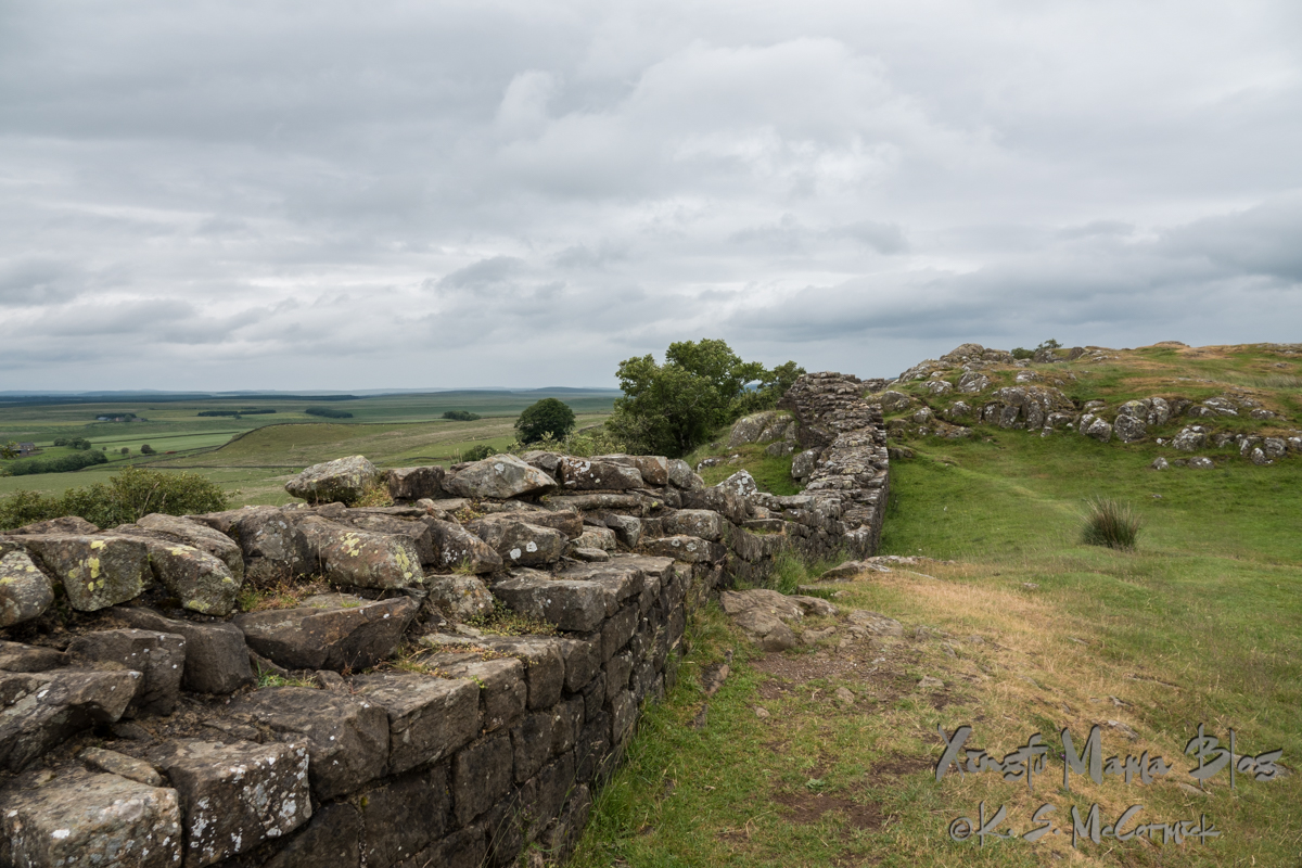 Remains of Hadrian's Wall in Northumberland.