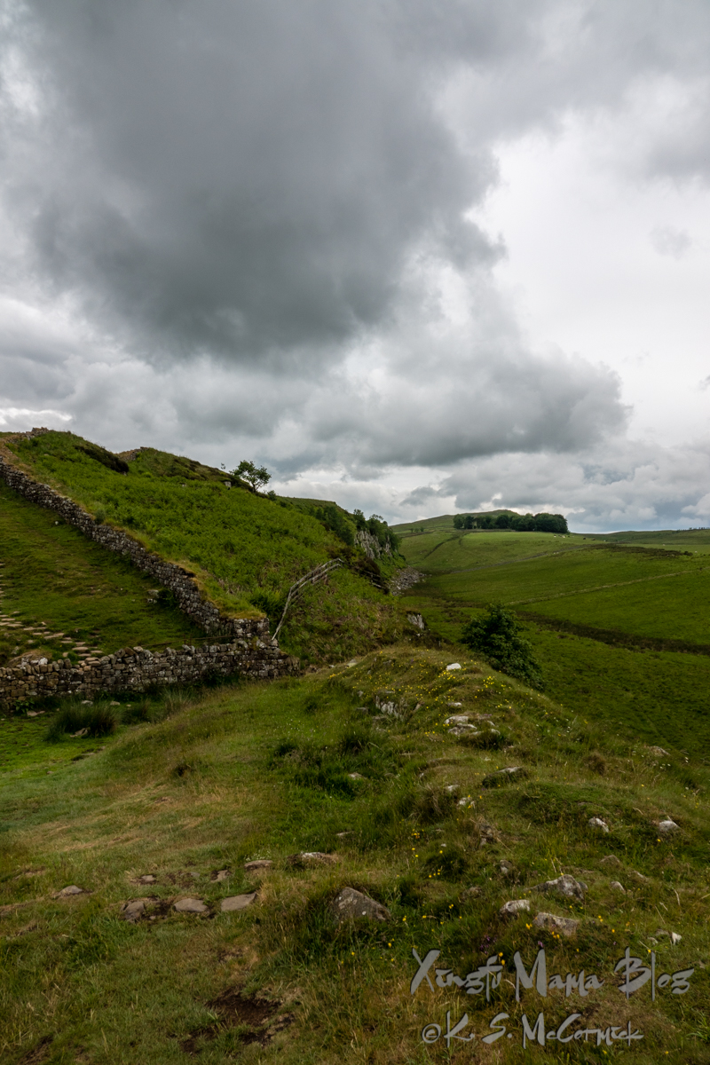 Scenery along Hadrian's Wall Path in northern England.