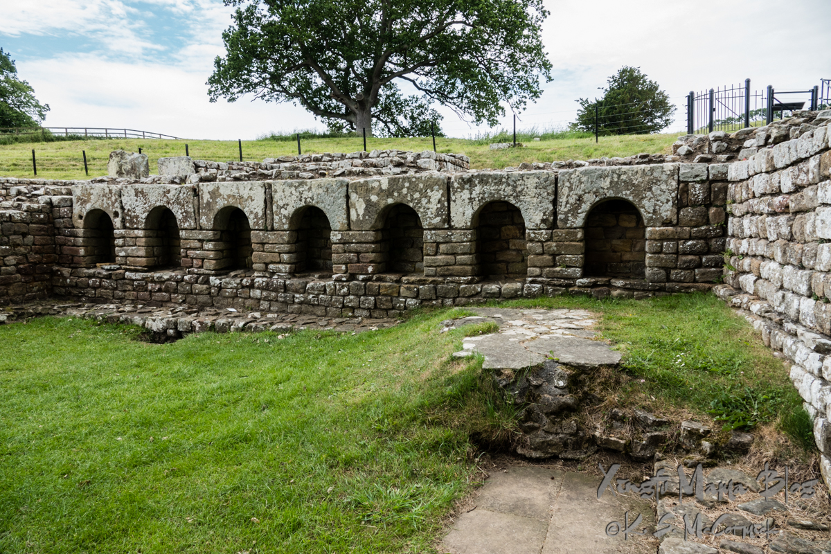 Part of the bath area at Chester's Fort in Northumbria.