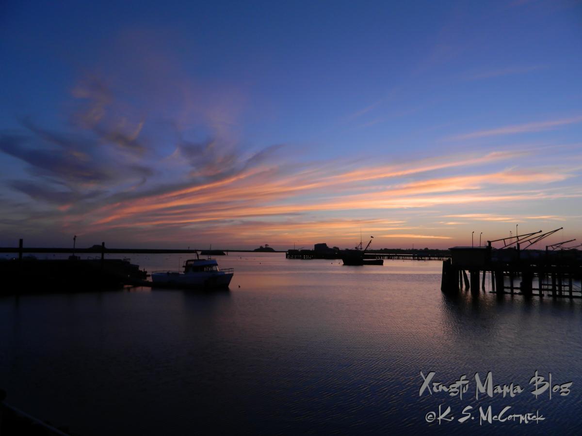 Evening at the harbor in Eureka California.