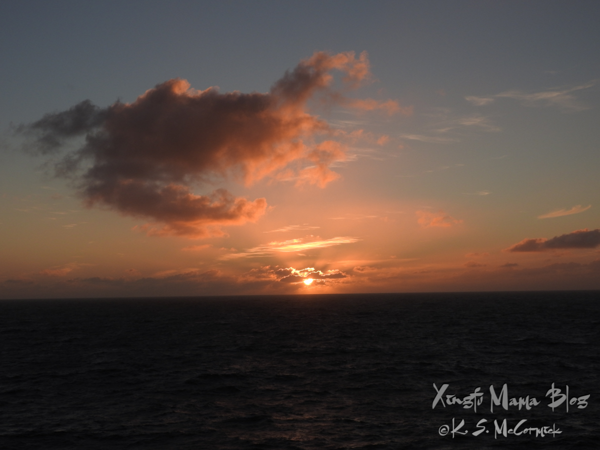 Sunset somewhere in the south Atlantic.