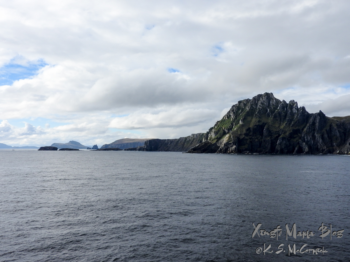 The rugged islands of Cape Horn at the southern tip of South America, on an unusually calm day.