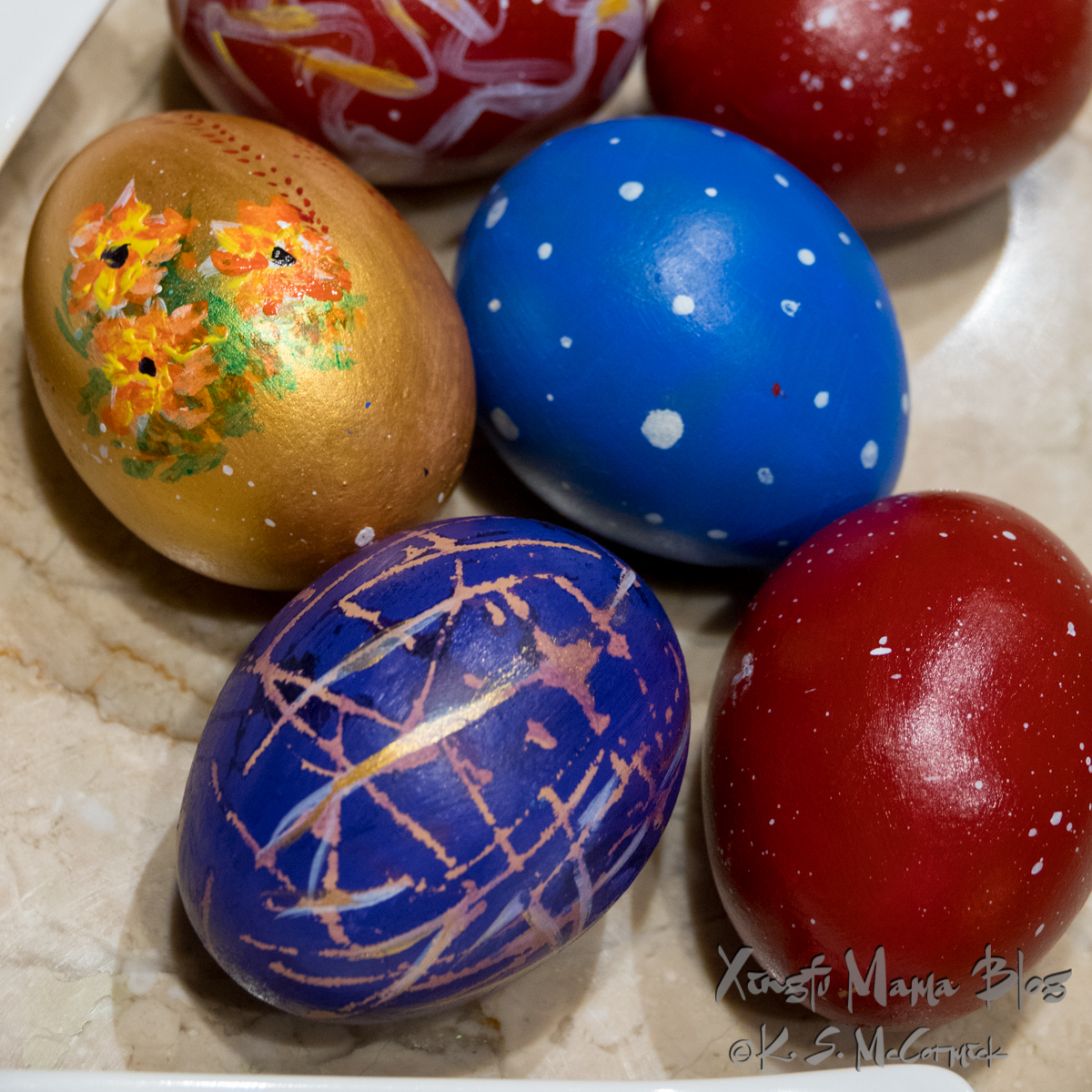 Beautiful painted Easter eggs.