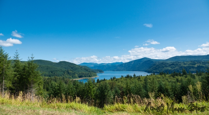 Riffe Lake Overlook, along highway 12 in the Cascade foothills in Washington State.