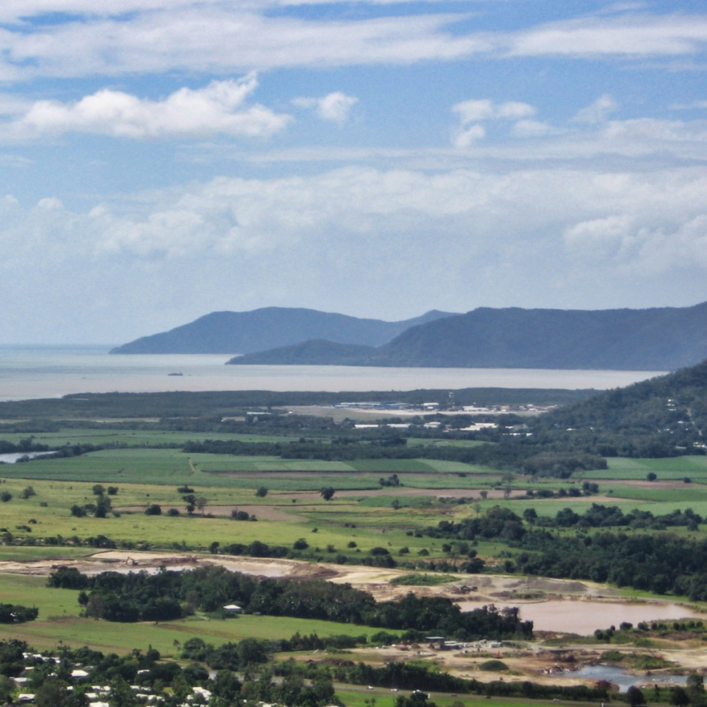 The coast of Australia near Cairns.