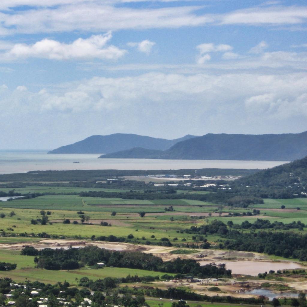 The coast of Australia near Cairns.