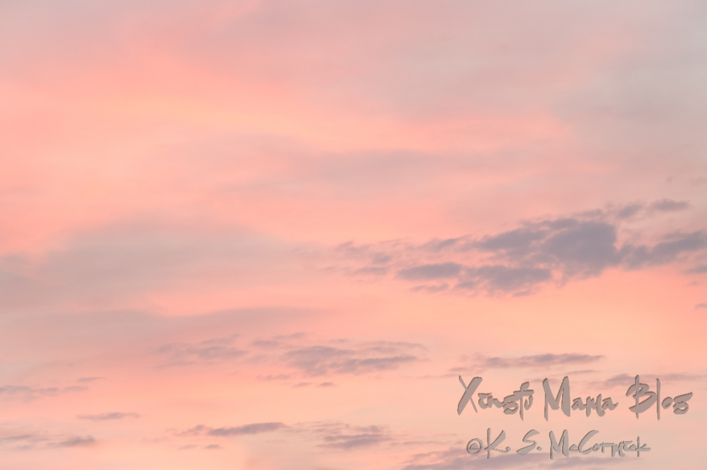 Soft pastel summer sky at sunset.