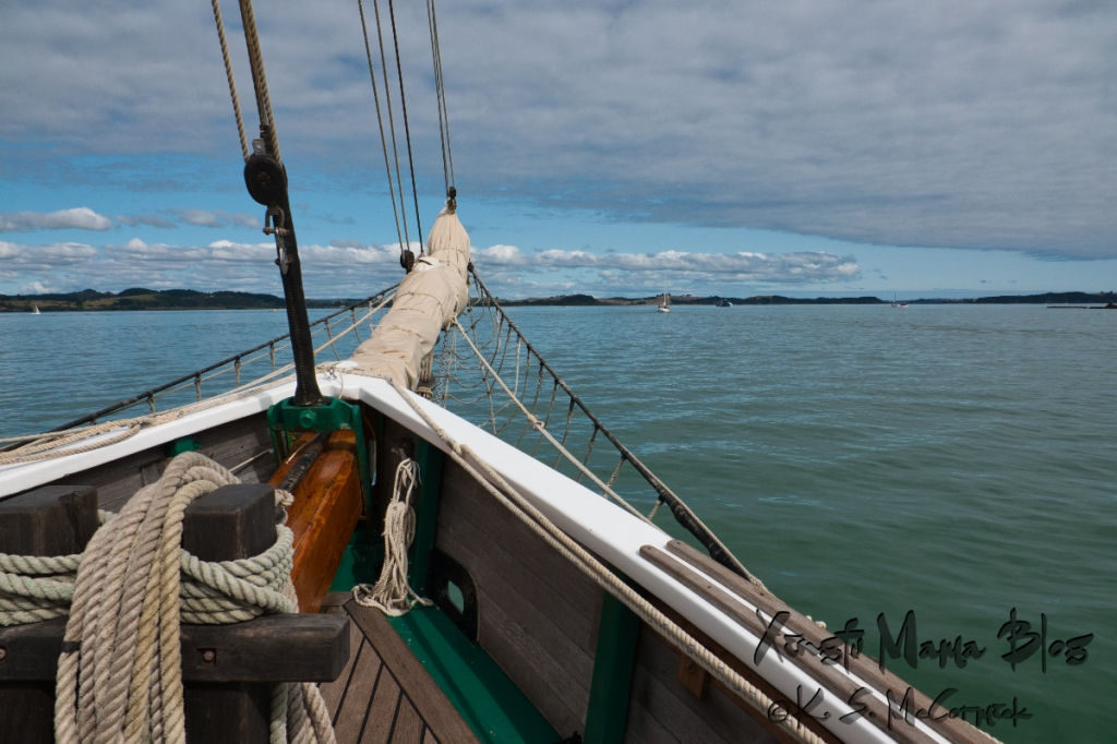 Heading out for a glorious day on the Bay of Islands, aboard the good ship R. Tucker Thompson.