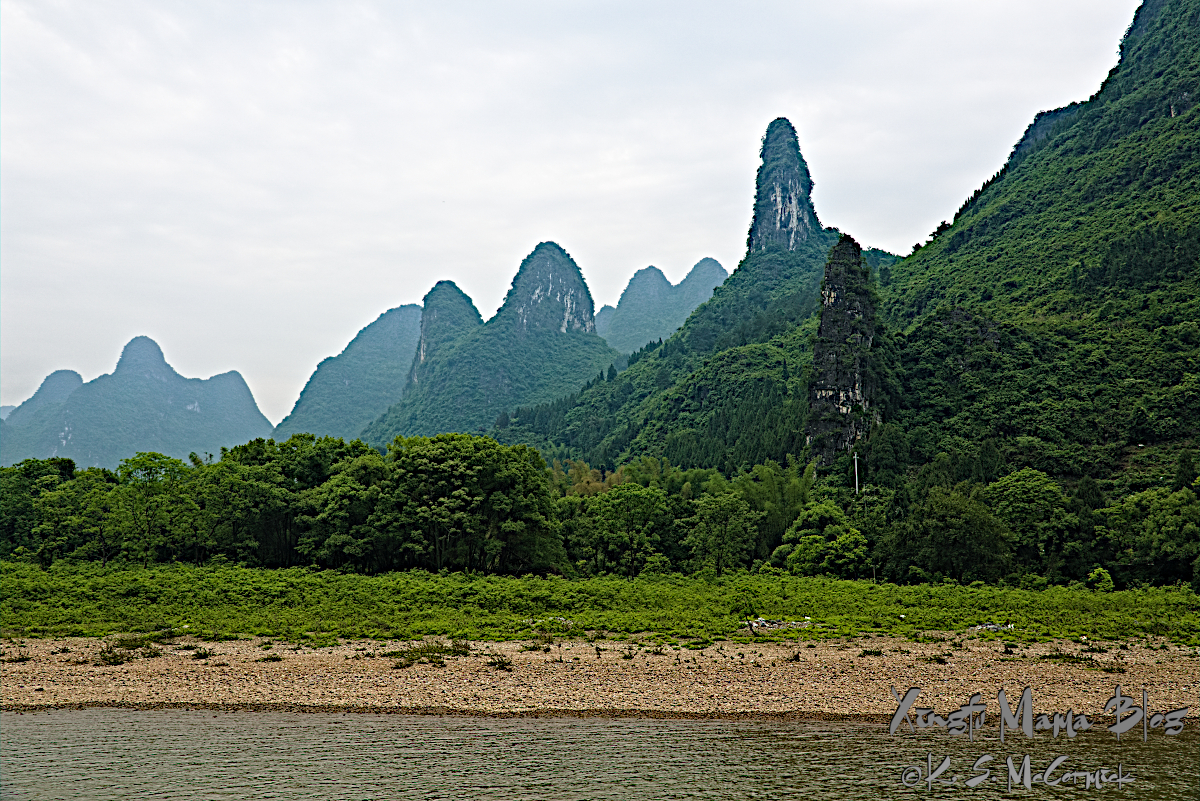 Karst rock formations one shaped like the head of a cat.