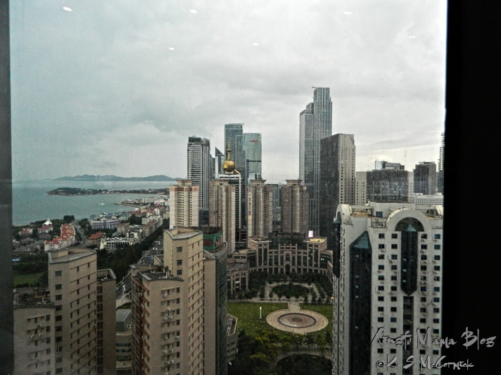 Another view of Qingdao, this time looking down.