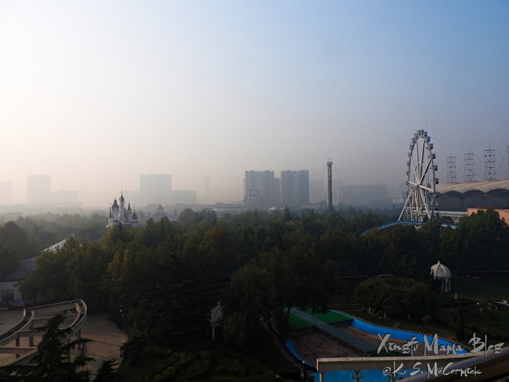 A fairytale view on a smoggy morning in Weifang, Shandong Province, China.