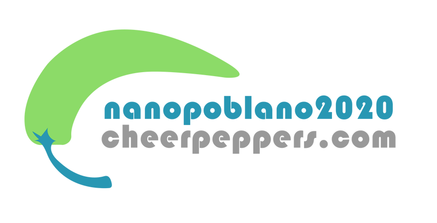 NanoPoblano 2020 cheer peppers badge.