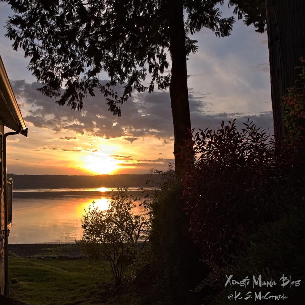Sunset on Puget Sound from Vashon Island.