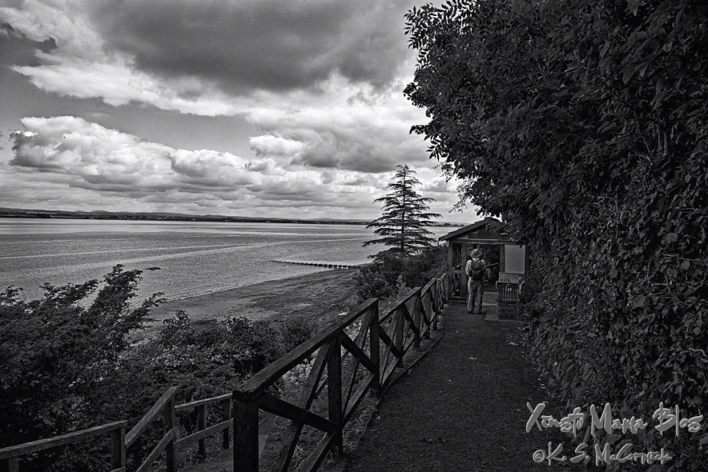Official start (or end if you go east to west) of the Hadrian's Wall National Trail in Bowness-on-Solway in northern England.