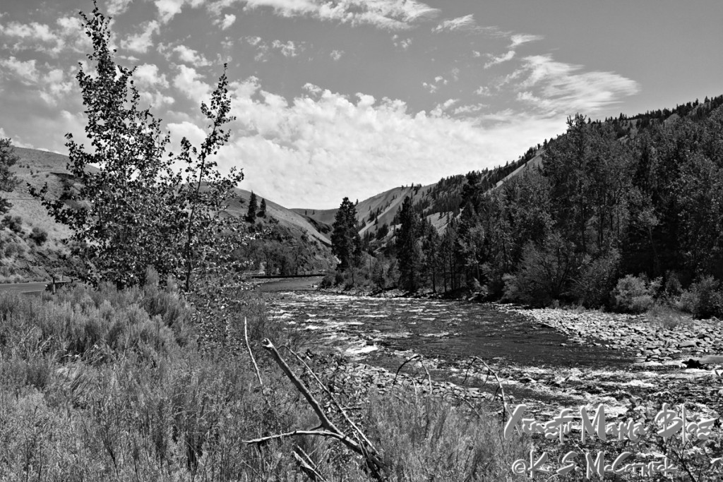 Scenery along the Naches is absolutely gorgeous, whether in color or black and white.
